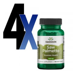 Saw Palmetto 540mg 100 Cápsulas Swanson 4un