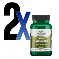Saw Palmetto 540mg 100 Cápsulas Swanson 2un