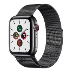 Apple Watch Series 5 40mm LTE em Aço Inoxidavel Preto MWX92
