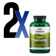 Saw Palmetto 540mg Swanson 250 Cap 2 Unidades