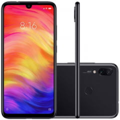 Smartphone Redmi Note7 Preto Versão Global 4gb Ram 64gb Rom