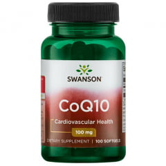 Suplemento CoQ10 100mg Swanson 100 Softgels
