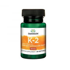 Vitamina K2 100mcg Swanson 30Softgels