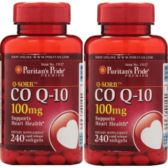 Kit 2 X Coenzima Q10 - 100mg - 240 Caps - Coq10 Puritans