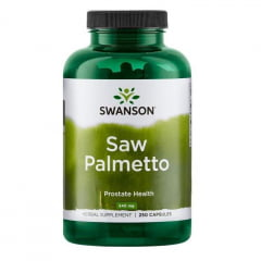 Saw Palmetto 540mg 250 Cápsulas Swanson